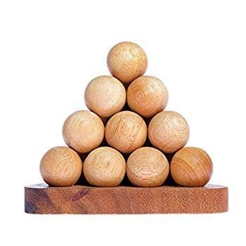 SKThailand Woody's Pyramid Balls - Handmade from Natural Pine