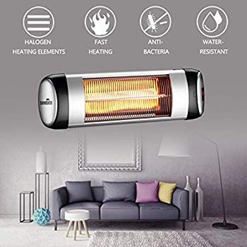 sundate Outdoor Heater, Electric Wall-Mounted Radiant Home Heater with