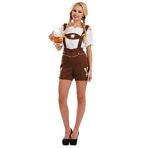 fun shack Women's Bavarian Lederhosen, X-Large