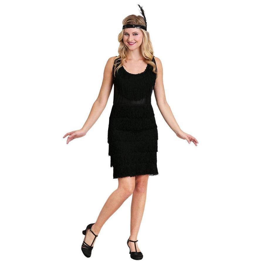 Plus Size 黒 Fringe 1920's Flapper Costume Women 4X