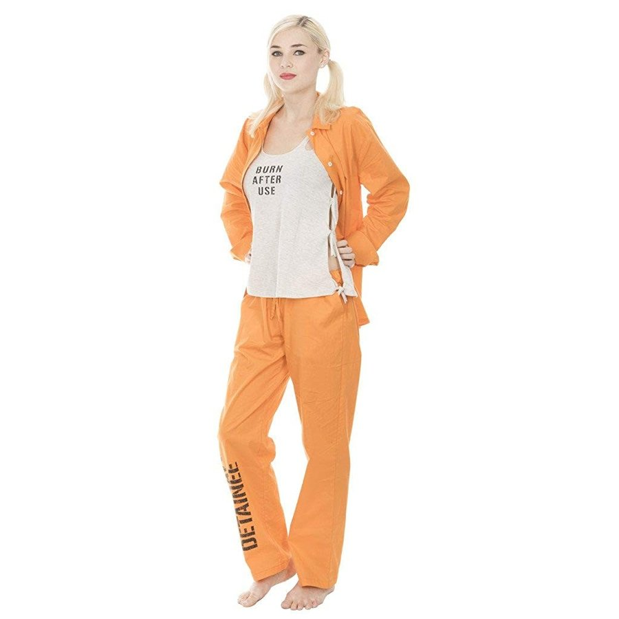 Suicide Squad Harley Quinn Bravo Detainee 3 piece Womans Costume Set (