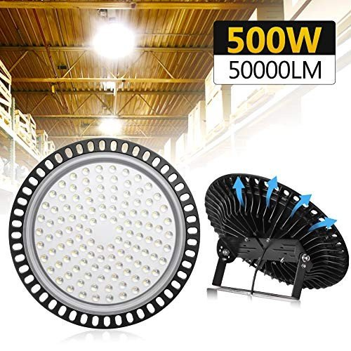 TOHUU 500W UFO LED High Bay Light lamp LED Warehouse Lighting 50000LM