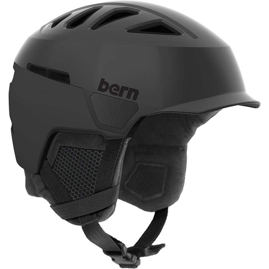 Bern Men's Heist Brim Helmet (Satin 黒 with 黒 Liner, Small)