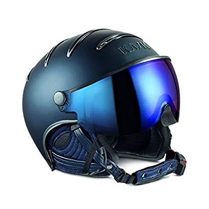 Kask Chrome Ski Helmet - 青 with Iridium Mirror 63