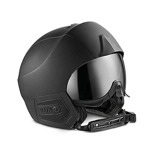 Kask Stealth Audio Ski Helmet - 黒 Matte with 銀 Mirror 62