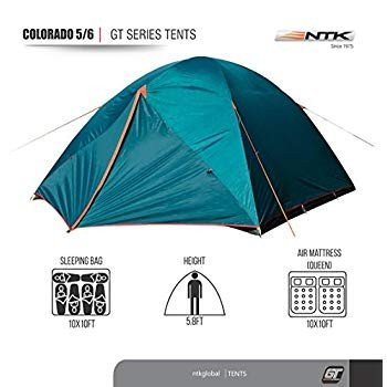 NTK Colorado GT 5 to 6 Person 10 by 10 Foot Outdoor Dome Family Campin