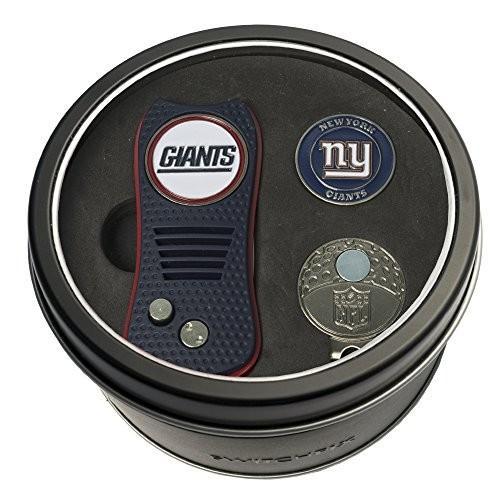 Team Golf NFL New York Giants Gift Set Switchblade Divot Tool, Cap Cli