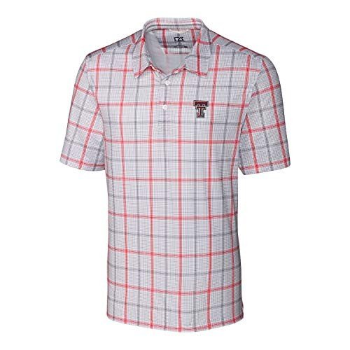Cutter & Buck NCAA Texas Tech Red Raiders Short Sleeve Gordon Plaid Pr