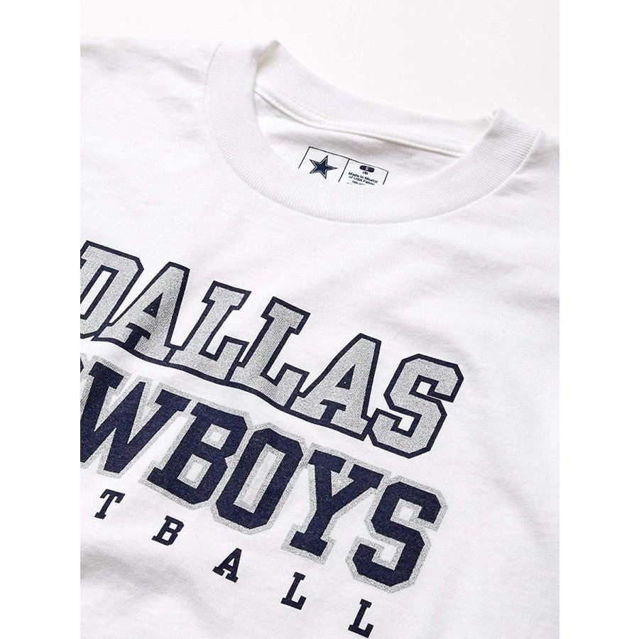 NFL Dallas Cowboys Youth Practice Long Sleeve T-Shirt, XL, 白い