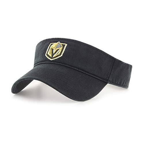 OTS NHL Vegas ゴールドen Knights Men's Visor Adjustable, 黒, One Size