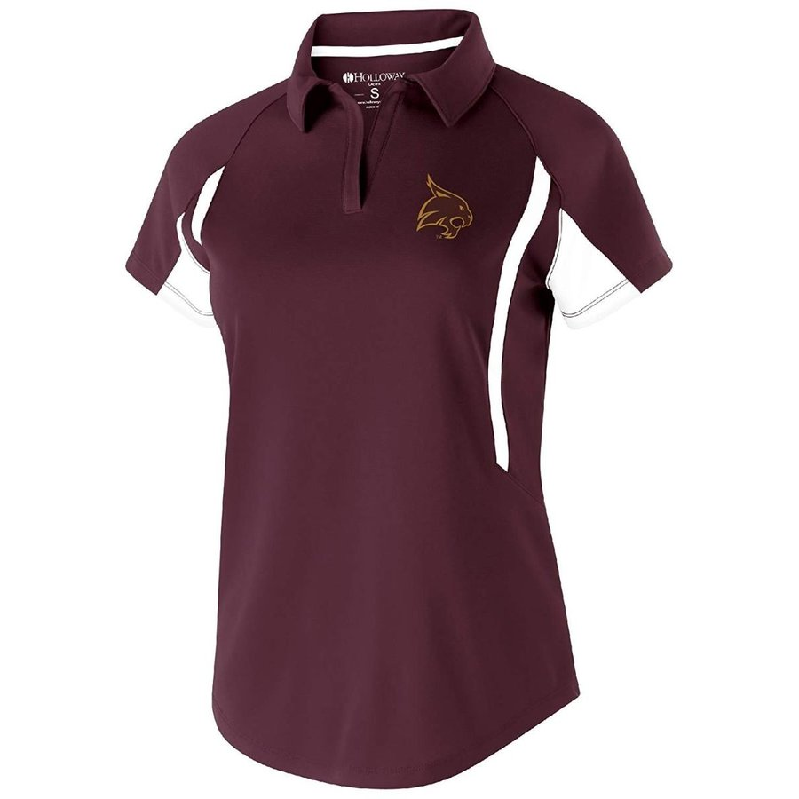 Ouray Sportswear NCAA Texas State Bobcats Women's Avenger Polo, Small,