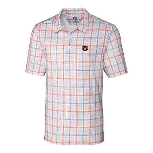 NCAA Auburn Tigers Short Sleeve Gordon Plaid Print Polo, 3X-Large, Col