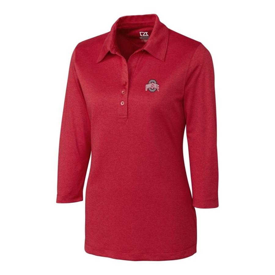 Cutter & Buck NCAA Ohio State Buckeyes Elbow Sleeve Chelan Polo, XL