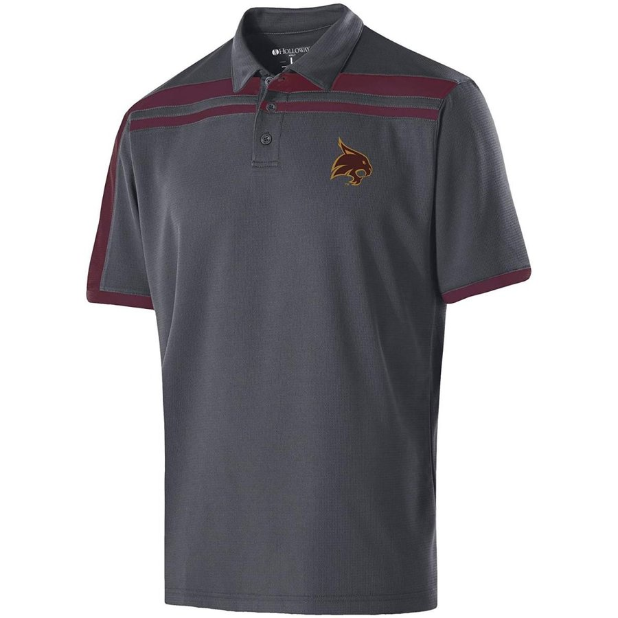 Ouray Sportswear NCAA Texas State Bobcats Men's Charge Polo, Large, Ca