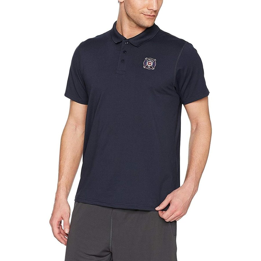 OTS MLS Chicago Fire Adult Men's Sueded Short sleeve Polo Shirt, XX-La