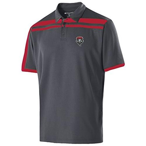 Ouray Sportswear NCAA New Mexico Lobos Men's Charge Polo, Small, Carbo