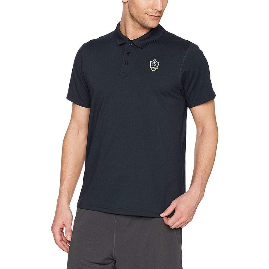 OTS MLS Los Angeles Galaxy Adult Men's Sueded Short sleeve Polo Shirt,