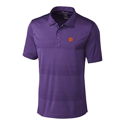 Cutter & Buck NCAA Clemson Tigers Short Sleeve Crescent Print Polo, XX