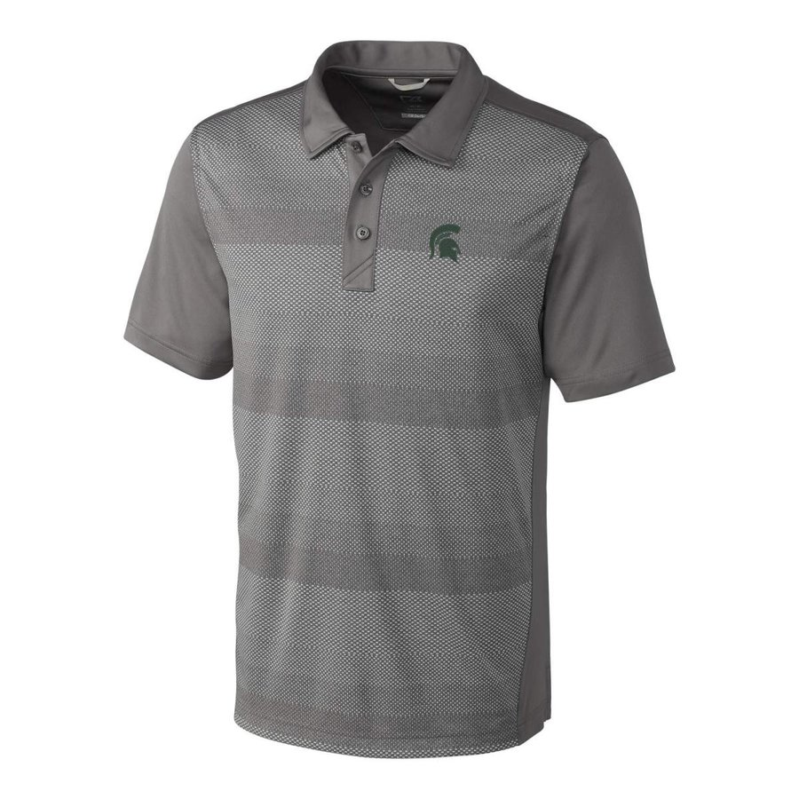 NCAA Michigan State Spartans Short Sleeve Crescent Print Polo, 3X-Larg