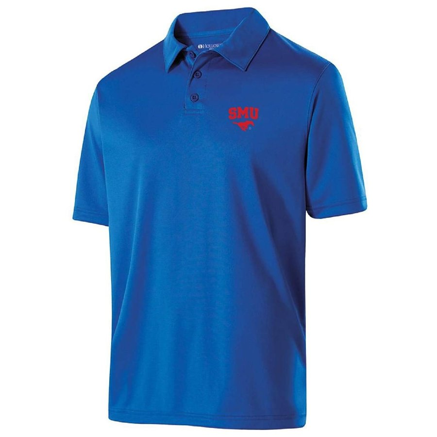Ouray Sportswear NCAA SMU Mustangs Men's Shift Polo, X-Large, Royal