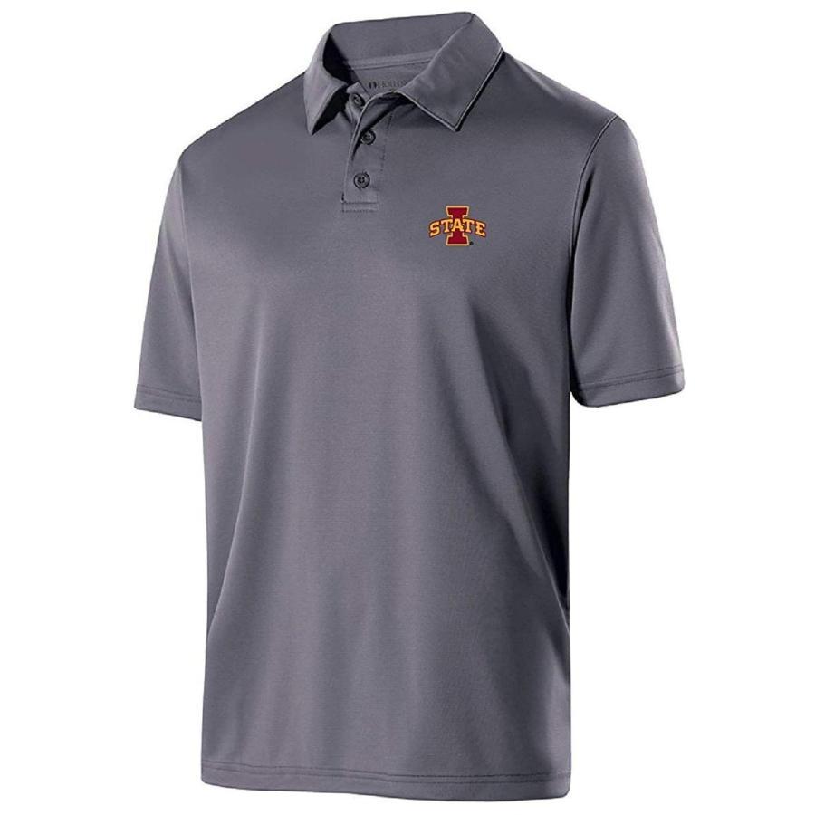 Ouray Sportswear NCAA Iowa State Cyclones Men's Shift Polo, Large, Gra