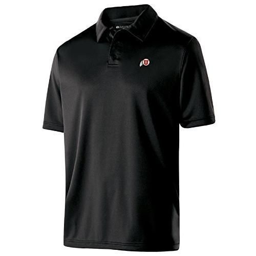 Ouray Sportswear NCAA Utah Utes Men's Shift Polo, Small, 黒