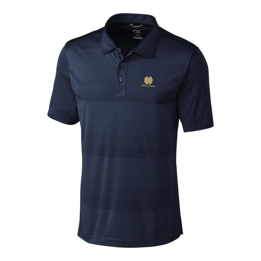 NCAA Notre Dame Fighting Irish Short Sleeve Crescent Print Polo, Mediu