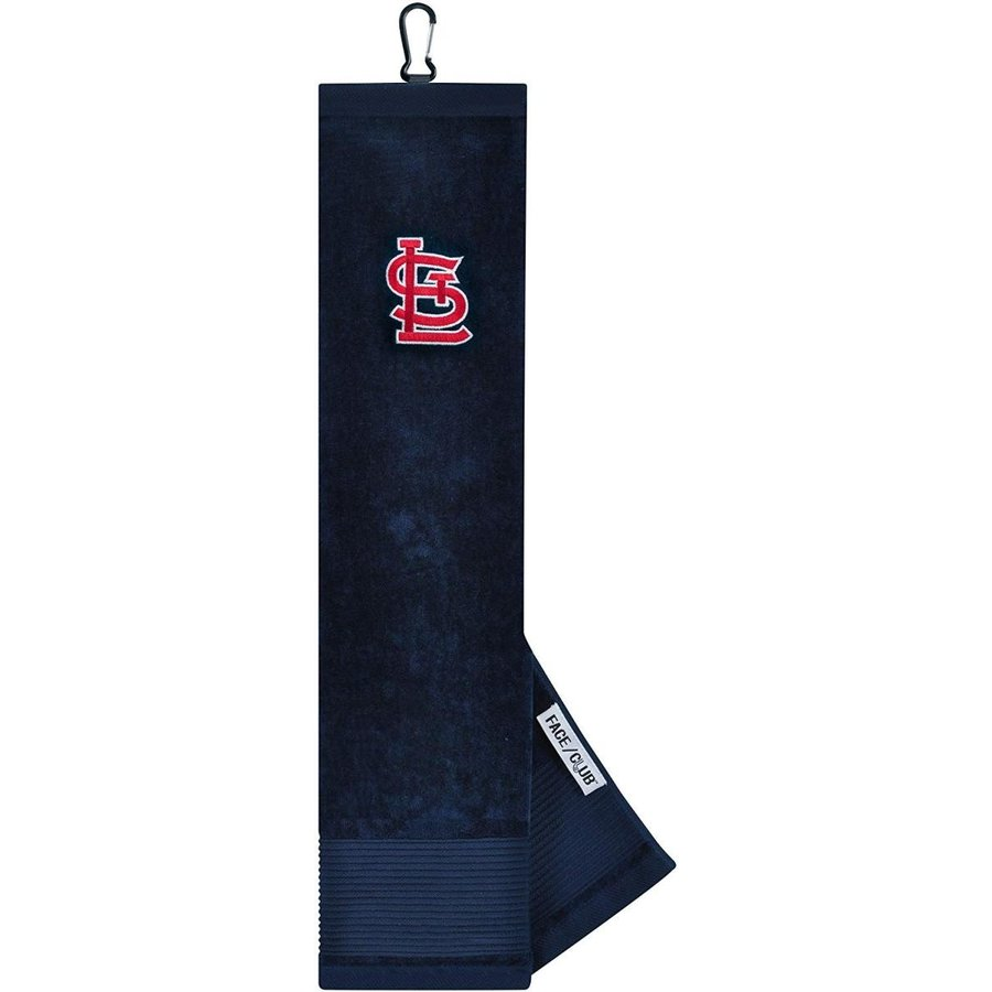 Team Effort MLB St. Louis Cardinals Face/Club Tri-Fold Embroidered Tow