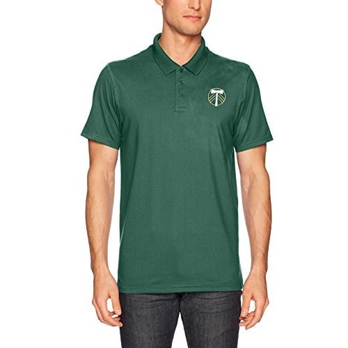 OTS MLS Portland Timbers Adult Men's Sueded Short sleeve Polo Shirt, L