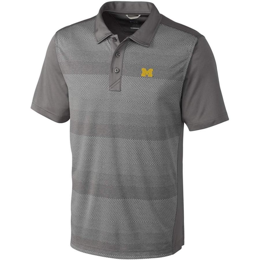 Cutter & Buck NCAA Michigan Wolverines Short Sleeve Crescent Print Pol
