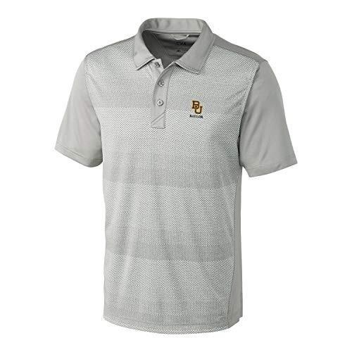 NCAA Baylor Bears Short Sleeve Crescent Print Polo, Small, Iced