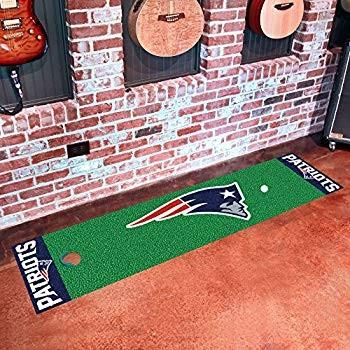 FANMATS NFL New England Patriots Nylon Face Putting Green Mat