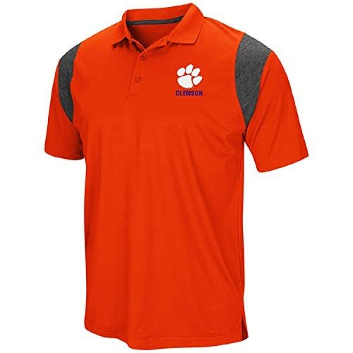 Colosseum Men's NCAA-Friend- Golf/Polo Shirt-Clemson Tigers-オレンジ-Lar