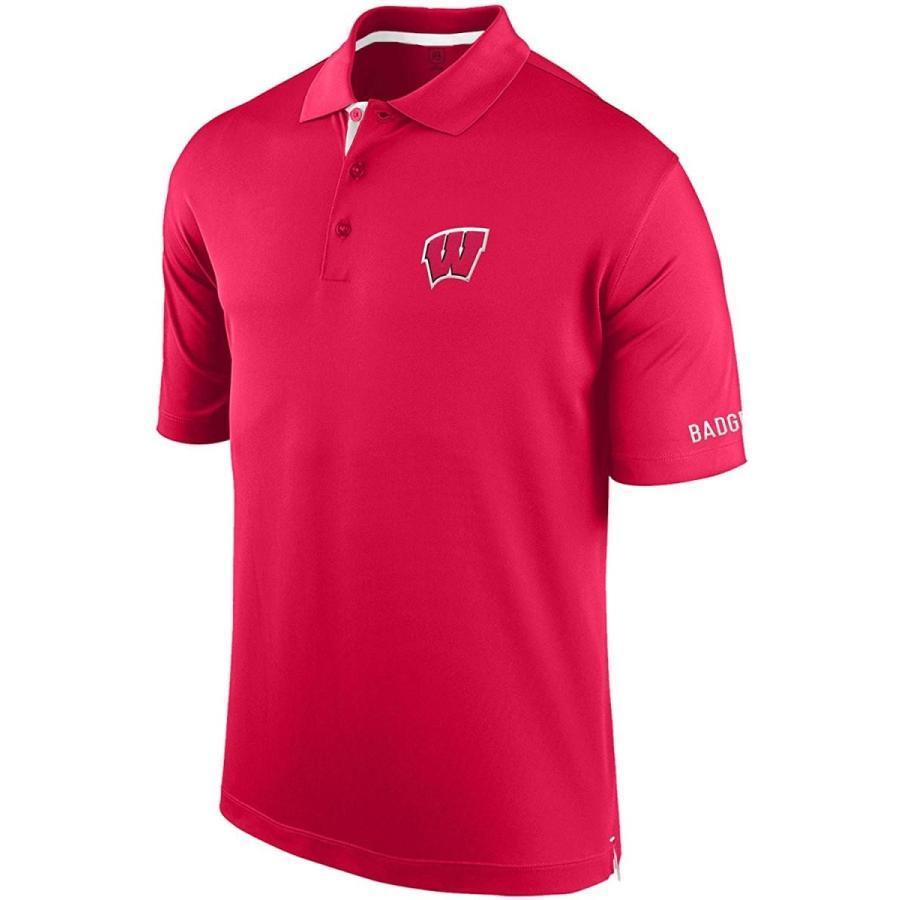 NCAA Wisconsin Badgers Men's Spector Poly Interlock Polo Shirt, Large,
