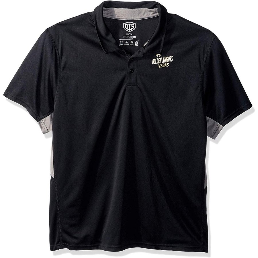 OTS NHL Vegas ゴールドen Knights Men's Poly Dot Polo, Jet 黒, Small