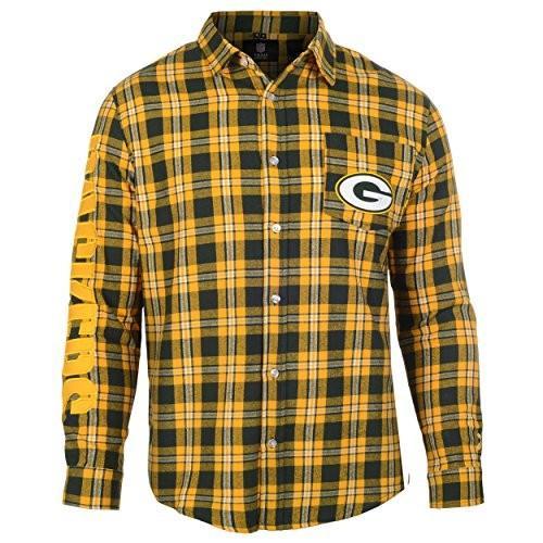 緑 Bay Packers Wordmark Basic Flannel Shirt Extra Large