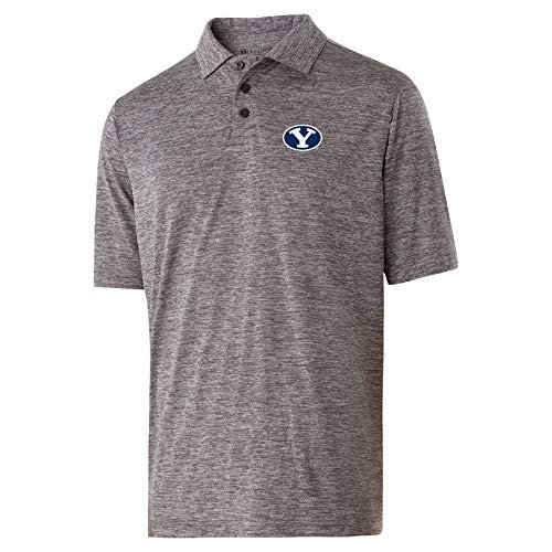 NCAA BYU Cougars Mens Electrify 2.0 PoloElectrify 2.0 Polo, Graphite H