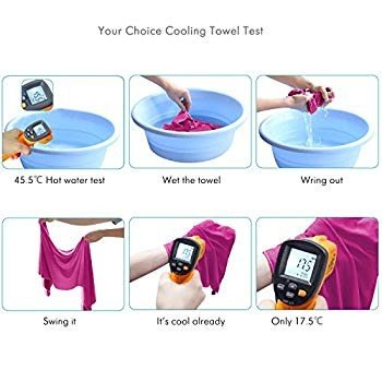 Your Choice Cooling Towel Snap Cooling Neck Wrap Cold Towel for Athlet