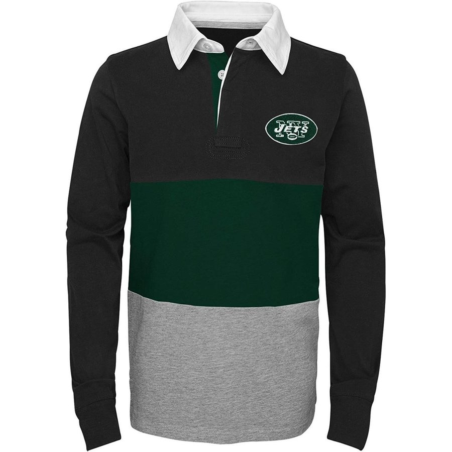 Outerstuff NFL New York Jets Youth Boys State of Mind Long Sleeve Rugb