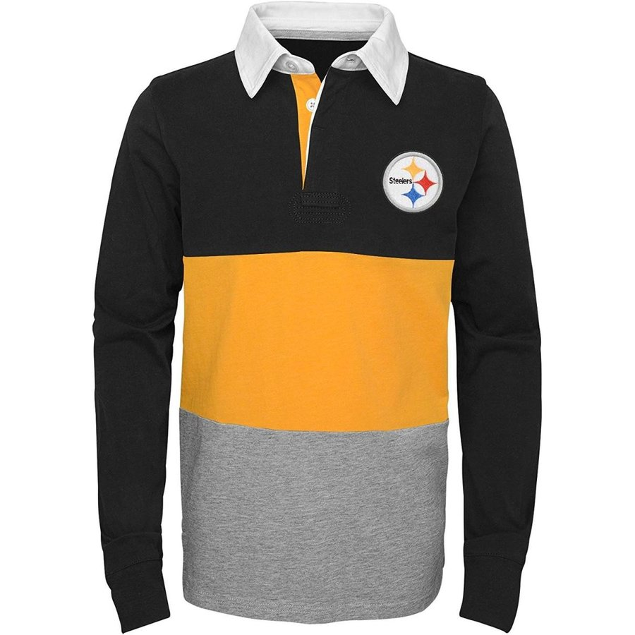 Outerstuff NFL Pittsburgh Steelers Youth Boys State of Mind Long Sleev