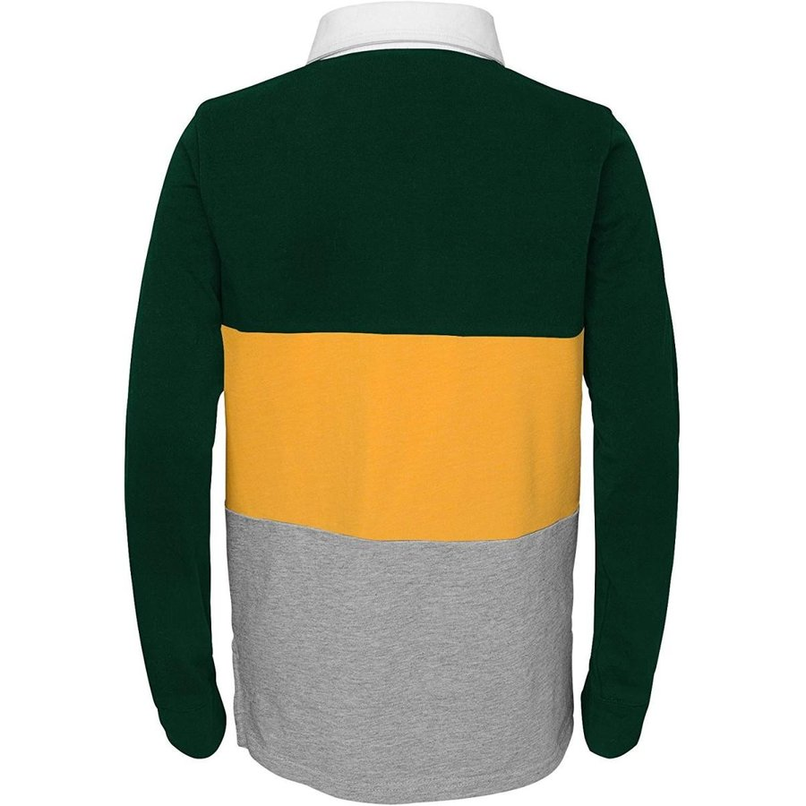NFL 緑 Bay Packers Youth Boys State of Mind Long Sleeve Rugby Top B