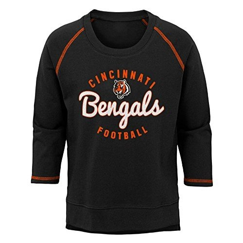 NFL Cincinnati Bengals Youth Boys Overthrow' Pullover Top 黒, Youth