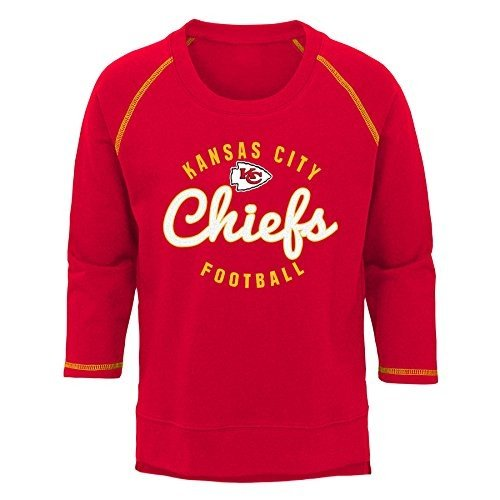 NFL Kansas City Chiefs Youth Boys Overthrow' Pullover Top 赤, Youth X