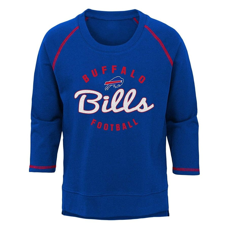 NFL Buffalo Bills Youth Boys Overthrow' Pullover Top Royal, Youth Larg