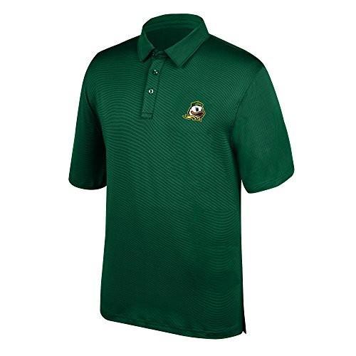 J America NCAA Men's Oregon Ducks Yarn Dye Striped Team Polo Shirt, XX