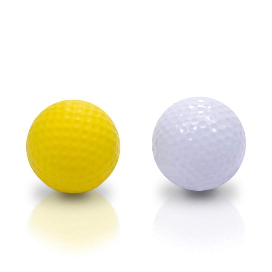 SHAUN WEBB Soft Golf Balls (Pack of 12 黄 Foam Practice Balls) Den
