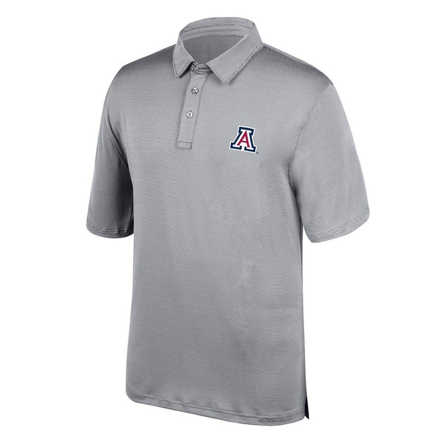 J America NCAA Men's Arizona Wildcats Yarn Dye Striped Team Polo Shirt