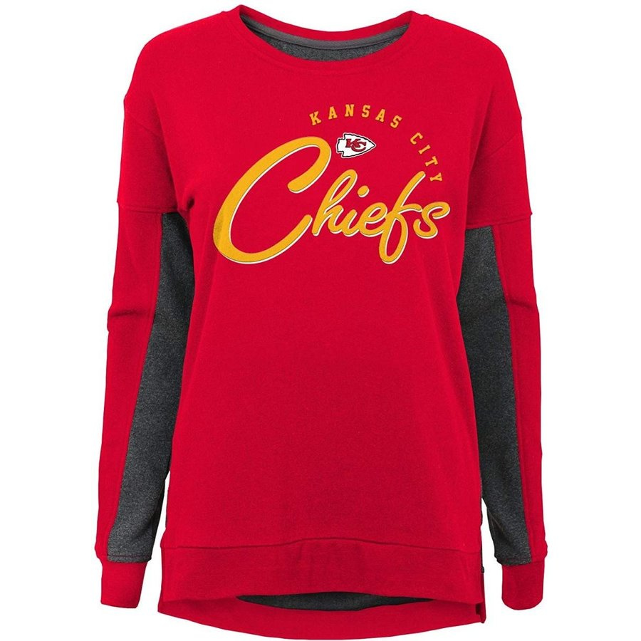 Outerstuff NFL Kansas City Chiefs Youth Boys in The Mix Long Sleeve Cr