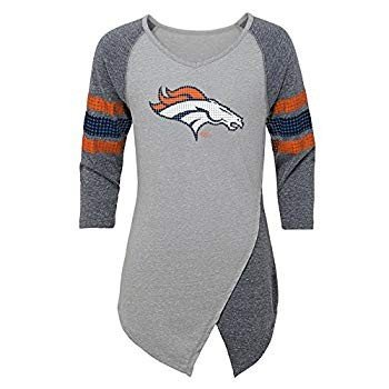 Outerstuff NFL Denver Broncos Juniors Lavish Crossover Asymmetric Hem