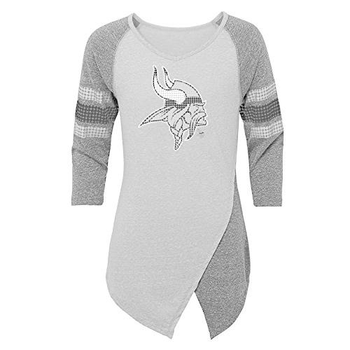 Outerstuff NFL Minnesota Vikings Juniors Lavish Crossover Asymmetric H